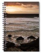 Pink Granite Coast At Sunset Spiral Notebook