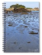 Pink Granite Island In Low Tide Spiral Notebook