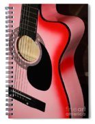 Pink Guitar Spiral Notebook