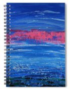 Pink In Sky Over Whitecaps Spiral Notebook