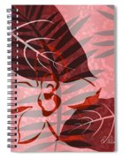 Pink Poster Floral II Spiral Notebook