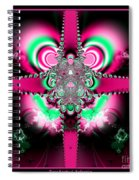 Pink Ribbons And Bow Fractal 75 Spiral Notebook