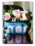 Pink Roses And Ivy Spiral Notebook
