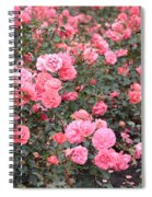 Pink Roses Canvas Spiral Notebook