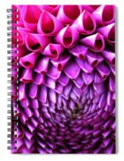 Pink To Purple Dahlia Spiral Notebook
