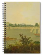 Pinnace Sailing Down The Ganges Past Monghyr Fort Spiral Notebook