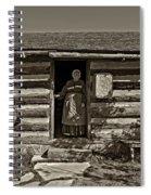 Pioneer Greeting Monochrome Spiral Notebook