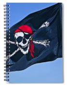 Pirate Flag Skull With Red Scarf Spiral Notebook