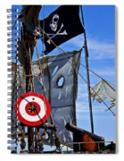 Pirate Ship With Target Spiral Notebook