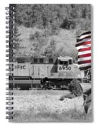 Pirates And Trains Black And White Spiral Notebook