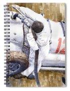 Pit Stop German Gp 1939 Mercedes Benz W154 Rudolf Caracciola Spiral Notebook
