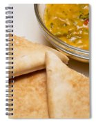 Pita Bread With Brocoli Cheese Dip Spiral Notebook