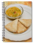 Pita With Brocoli Dip Spiral Notebook