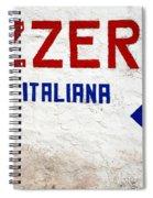 Pizzeria Advertising Sign Spiral Notebook