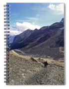 Plain Of Six Glaciers Trail - Lake Louise Canada Spiral Notebook