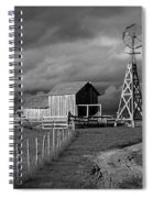 Plains Frontier Farm And Windmill At 1880's Town In South Dakota Spiral Notebook