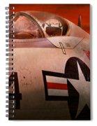 Plane - Pilot - Airforce - Go Get Em Tiger  Spiral Notebook