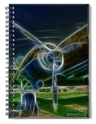 Plane Engine And Prop Spiral Notebook