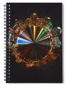 Planet Wee San Diego California By Night Spiral Notebook