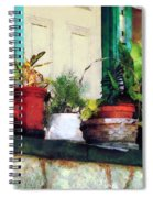 Plants On Porch Spiral Notebook