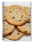 Plate Of Chocolate Chip Cookies Spiral Notebook