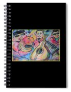 Play The Blues Spiral Notebook