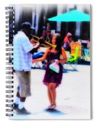 Playing For A Pretty Girl - New Orleans Spiral Notebook
