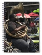 Playing The Tuba _ New Orleans Spiral Notebook
