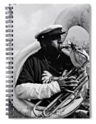 Playing To The Crowd - Bw Spiral Notebook