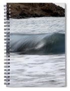 playing with waves 1 - A beautiful image of a wave rolling in noth coast of Menorca Spiral Notebook