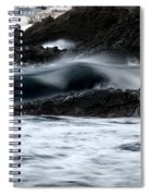 playing with waves 2 - A beautiful image of a wave rolling in noth coast of Menorca Cala Mesquida Spiral Notebook