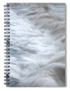 playing with waves 3 - Mediterranean sea foam playing with black stones in cala mesquida - menorca Spiral Notebook