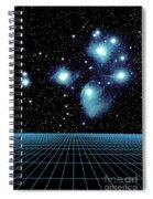 Pleiades In Taurus Spiral Notebook