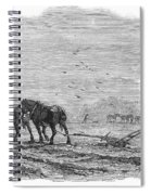 Ploughing, 1846 Spiral Notebook