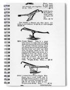 Plow Advertisement, C1890 Spiral Notebook