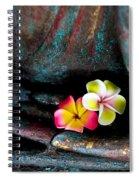 Plumeria Flowers Spiral Notebook