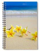 Plumerias On Beach II Spiral Notebook