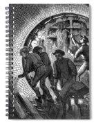 Pneumatic Transit, 1870 Spiral Notebook