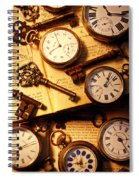 Pocket Watches And Old Keys Spiral Notebook