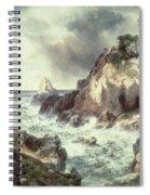 Point Lobos At Monterey In California Spiral Notebook