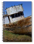 Point Reyes Beached Boat Spiral Notebook
