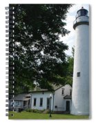 Pointe Aux Barqes Lighthouse Spiral Notebook