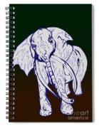 Pointillism Elephant Spiral Notebook