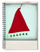 Polaroid Of A Christmas Hat Spiral Notebook