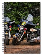 Police Motorcycles Spiral Notebook