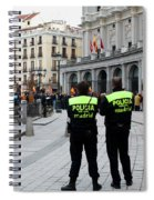 Policia Madrid Spiral Notebook