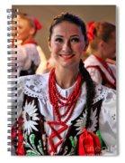Polish Folk Dancing Girl Spiral Notebook