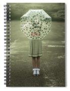 Polka Dotted Umbrella Spiral Notebook