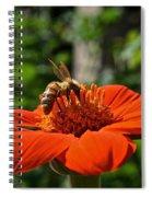 Pollenating Spiral Notebook
