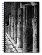 Pompeii Columns Black And White Spiral Notebook